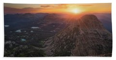 Sunset In The Uinta Mountains Beach Sheet