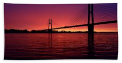 Sunset In The View Beach Towel
