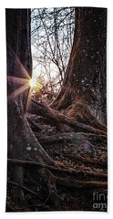 Sunset In The Woods Beach Towel