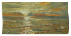 Sunset In Tropical Beach Towel