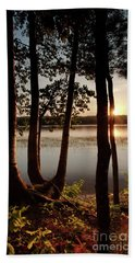 Sunset, Kennebec River, South Gardiner, Maine  -8364-8368 Beach Sheet