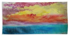 Sunset Lagoon Beach Towel