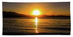 Sunset Lake 1 Beach Towel