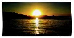 Sunset Lake 2 Beach Towel