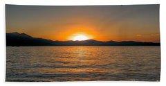 Sunset Lake 3 Beach Towel