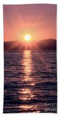 Sunset Lake Verticle Beach Towel