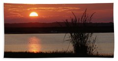 Sunset Lake II Beach Towel