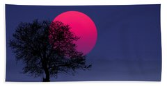 Sunset Magenta Beach Towel