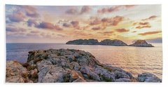 Sunset Malgrats Islands Beach Towel
