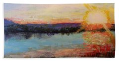 Beach Sheet featuring the painting Sunset by Marlene Book