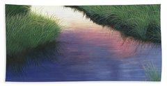 Sunset Marsh Series Beach Towel