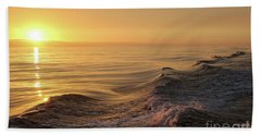 Sunset Meets Wake Beach Towel by Suzanne Luft