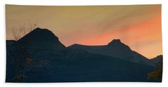 Sunset Mountain Silhouette Beach Towel
