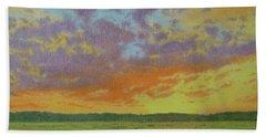 Sunset Near Miles City Beach Towel