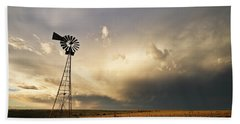 Sunset Near Santa Rosa New Mexico Beach Towel