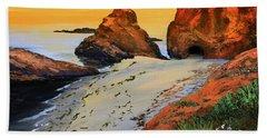 Sunset North Of Fort Bragg Ca Beach Towel