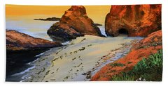 Sunset North Of Fort Bragg Ca Beach Towel