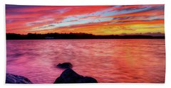 Sunset Of Fire Beach Towel