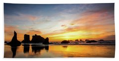 Sunset On Bandon Beach Towel