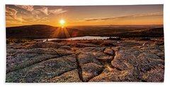 Sunset On Cadillac Mountain Beach Towel