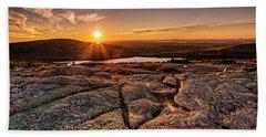 Sunset On Cadillac Mountain Beach Sheet