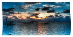 Sunset On Cedar Key Beach Towel