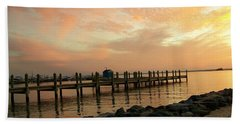 Sunset On Dewey Bay Beach Towel