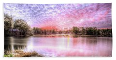 Sunset On Flint Creek Beach Towel by Maddalena McDonald