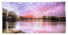 Sunset On Flint Creek Beach Sheet