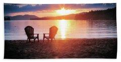 Sunset On Fourth Lake Beach Towel