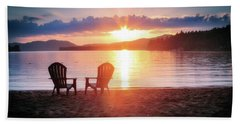 Sunset On Fourth Lake Beach Towel