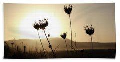 Sunset On Galilee Road Beach Sheet by Yoel Koskas