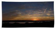 Sunset On Lake Georgetown Beach Towel