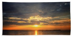 Sunset On Lake Hartwell Beach Towel by Lynne Jenkins