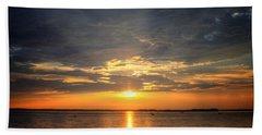 Sunset On Lake Hartwell Beach Sheet