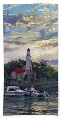 Sunset On Lake Shore Mississauga Beach Towel