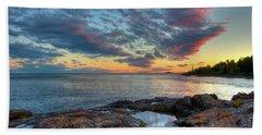 Sunset On Lake Superior Beach Towel