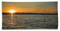 Sunset On Left Beach Towel