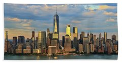 Sunset On Lower Manhattan Beach Towel