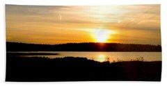 Sunset On Morrison Beach Beach Sheet by Jason Lees