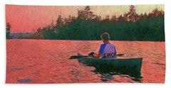 Sunset On Parker Pond Beach Towel by Joy Nichols