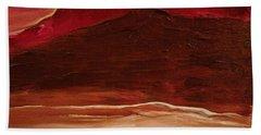 Sunset On Red Mountain Beach Sheet