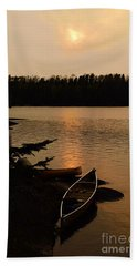 Sunset On Shell Lake Beach Towel