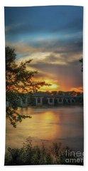 Sunset On The Arkansas Beach Towel