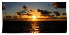 Sunset On The Atlantic Beach Towel