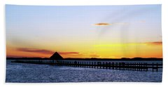 Sunset On The Bay Beach Towel by Elsa Marie Santoro