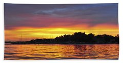 Sunset On The Bay Island Heights Nj Beach Towel