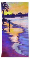 Sunset On The Beach Beach Towel