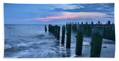 Sunset On The Delaware Bay Beach Towel