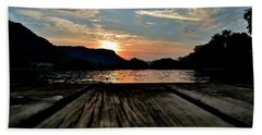 Sunset On The Dock Beach Towel